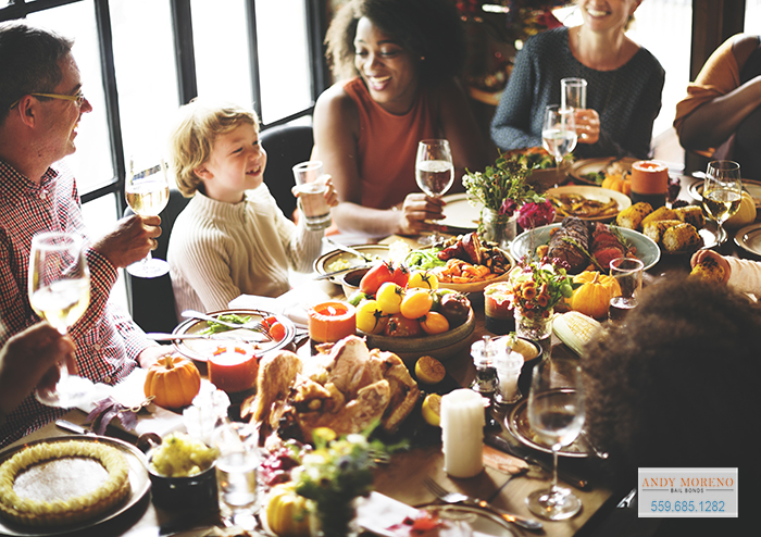 Andy Moreno Bail Bonds in Porterville Allows you to Spend Thanksgiving with your Family